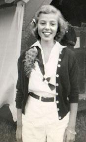 A camper at Tripp Lake Camp wearing a bandana